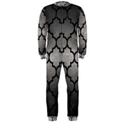 Tile1 Black Marble & Gray Metal 1 (r) Onepiece Jumpsuit (men)