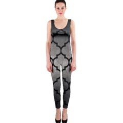 Tile1 Black Marble & Gray Metal 1 (r) Onepiece Catsuit