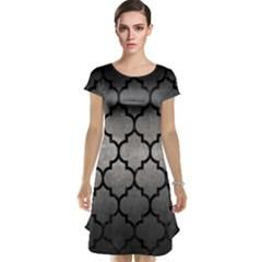 Tile1 Black Marble & Gray Metal 1 (r) Cap Sleeve Nightdress