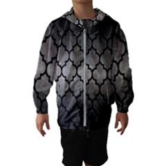 Tile1 Black Marble & Gray Metal 1 (r) Hooded Wind Breaker (kids)