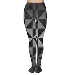 Triangle1 Black Marble & Gray Metal 1 Women s Tights