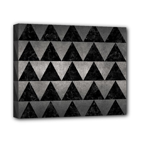 Triangle2 Black Marble & Gray Metal 1 Canvas 10  X 8