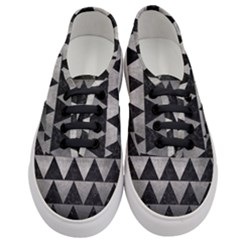 Triangle2 Black Marble & Gray Metal 1 Women s Classic Low Top Sneakers