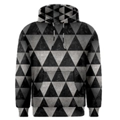 Triangle3 Black Marble & Gray Metal 1 Men s Pullover Hoodie