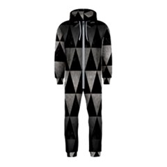 Triangle3 Black Marble & Gray Metal 1 Hooded Jumpsuit (kids)