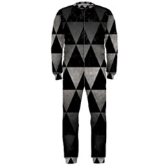 Triangle3 Black Marble & Gray Metal 1 Onepiece Jumpsuit (men)