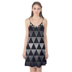 Triangle3 Black Marble & Gray Metal 1 Camis Nightgown