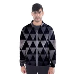 Triangle3 Black Marble & Gray Metal 1 Wind Breaker (men)