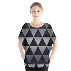 Triangle3 Black Marble & Gray Metal 1 Blouse