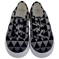Triangle3 Black Marble & Gray Metal 1 Kids  Classic Low Top Sneakers
