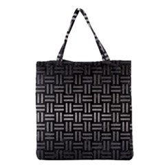 Woven1 Black Marble & Gray Metal 1 Grocery Tote Bag
