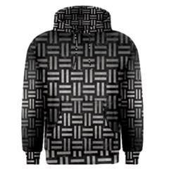 Woven1 Black Marble & Gray Metal 1 Men s Pullover Hoodie