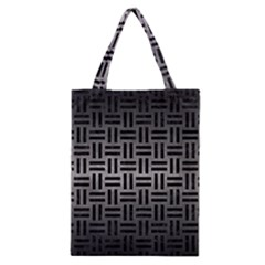 Woven1 Black Marble & Gray Metal 1 (r) Classic Tote Bag