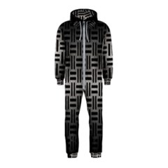 Woven1 Black Marble & Gray Metal 1 (r) Hooded Jumpsuit (kids)