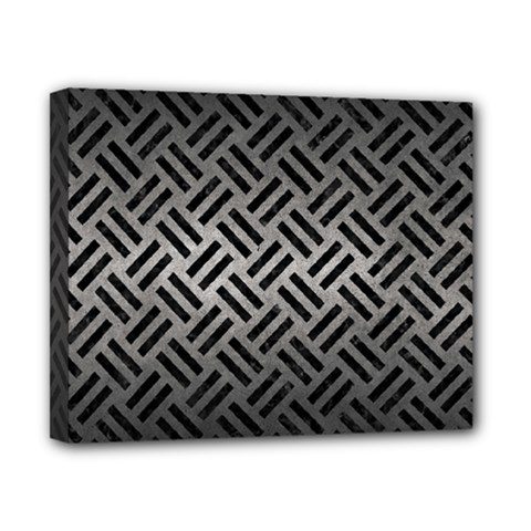 Woven2 Black Marble & Gray Metal 1 (r) Canvas 10  X 8