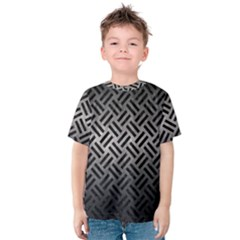 Woven2 Black Marble & Gray Metal 1 (r) Kids  Cotton Tee