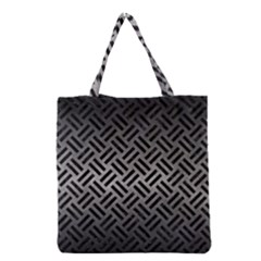 Woven2 Black Marble & Gray Metal 1 (r) Grocery Tote Bag