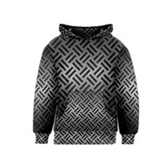 Woven2 Black Marble & Gray Metal 1 (r) Kids  Pullover Hoodie