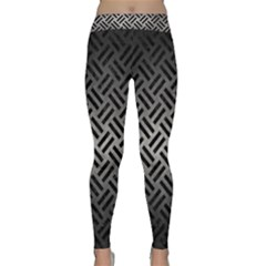 Woven2 Black Marble & Gray Metal 1 (r) Classic Yoga Leggings
