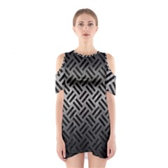 Woven2 Black Marble & Gray Metal 1 (r) Shoulder Cutout One Piece