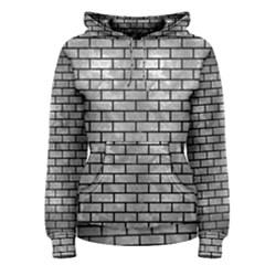 Brick1 Black Marble & Gray Metal 2 (r) Women s Pullover Hoodie