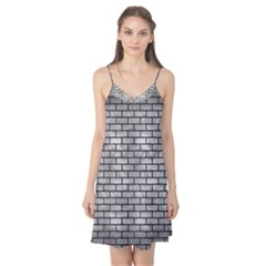 Brick1 Black Marble & Gray Metal 2 (r) Camis Nightgown