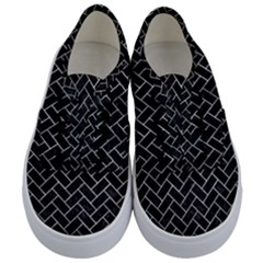 Brick2 Black Marble & Gray Metal 2 Kids  Classic Low Top Sneakers