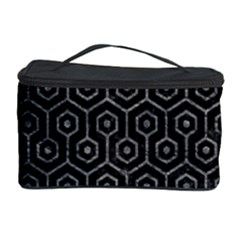 Hexagon1 Black Marble & Gray Leather Cosmetic Storage Case