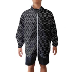 Hexagon1 Black Marble & Gray Leather Wind Breaker (kids)