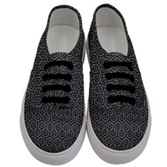 Hexagon1 Black Marble & Gray Leather (r) Men s Classic Low Top Sneakers
