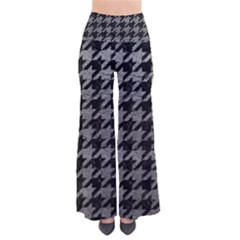 Houndstooth1 Black Marble & Gray Leather Pants