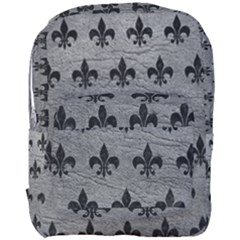 Royal1 Black Marble & Gray Leather Full Print Backpack