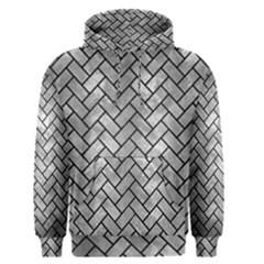 Brick2 Black Marble & Gray Metal 2 (r) Men s Pullover Hoodie