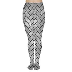 Brick2 Black Marble & Gray Metal 2 (r) Women s Tights