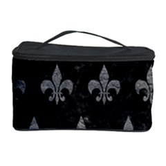 Royal1 Black Marble & Gray Leather (r) Cosmetic Storage Case