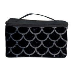 Scales1 Black Marble & Gray Leather Cosmetic Storage Case