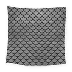 Scales1 Black Marble & Gray Leather (r) Square Tapestry (large)