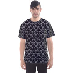 Scales2 Black Marble & Gray Leather Men s Sports Mesh Tee