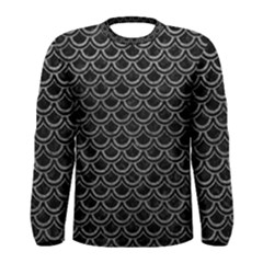 Scales2 Black Marble & Gray Leather Men s Long Sleeve Tee