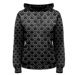Scales2 Black Marble & Gray Leather Women s Pullover Hoodie