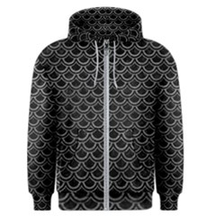 Scales2 Black Marble & Gray Leather Men s Zipper Hoodie
