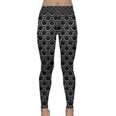 Scales2 Black Marble & Gray Leather Classic Yoga Leggings