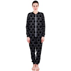 Scales2 Black Marble & Gray Leather Onepiece Jumpsuit (ladies)