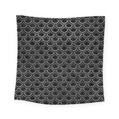 Scales2 Black Marble & Gray Leather Square Tapestry (small)