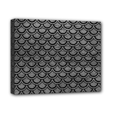 Scales2 Black Marble & Gray Leather (r) Canvas 10  X 8