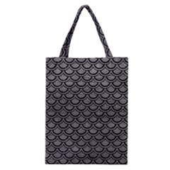 Scales2 Black Marble & Gray Leather (r) Classic Tote Bag