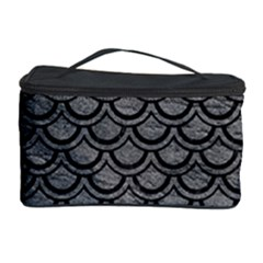 Scales2 Black Marble & Gray Leather (r) Cosmetic Storage Case
