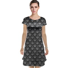 Scales2 Black Marble & Gray Leather (r) Cap Sleeve Nightdress