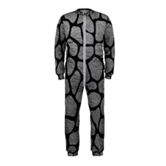 Skin1 Black Marble & Gray Leather Onepiece Jumpsuit (kids)