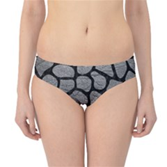 Skin1 Black Marble & Gray Leather Hipster Bikini Bottoms